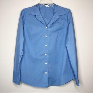 🛍 J.Crew Women's Classic Blue Button Up Shirt